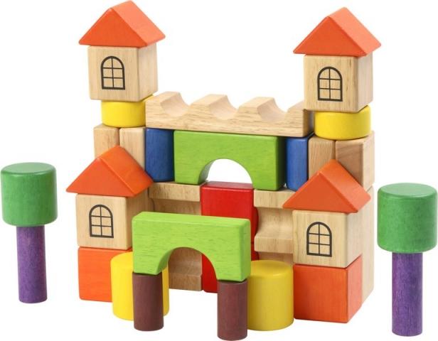 Dřevěná stavebnice kostky